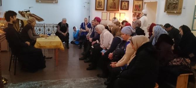 Встреча прихожан с родственницей протоиерея Валентина Амфитеатрова.
