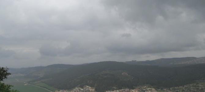 Гора Фавор — место Преображения Спасителя. Фото февраль 2016 г.