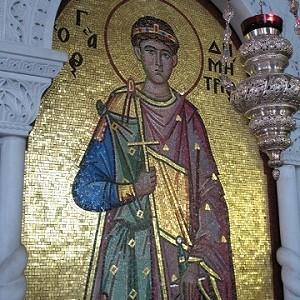Крипта храма Великомученика Димитрия в Салониках. Фото 2009 г. Часть 2
