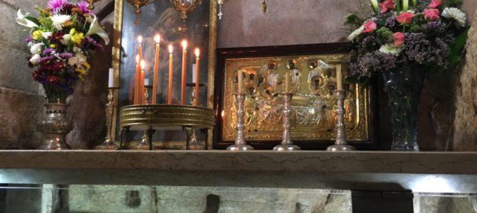 Гробница Божией Матери в Гефсимании. Иерусалим. Фото февраль 2016 г.