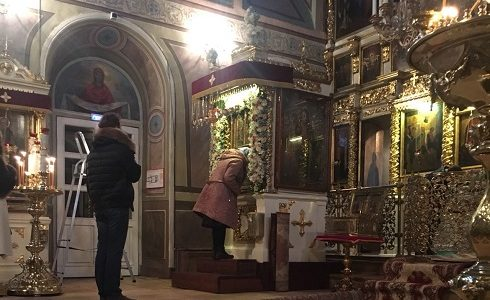 Храм Илии пророка в Обыденском переулке. Фото декабрь 2017 г.