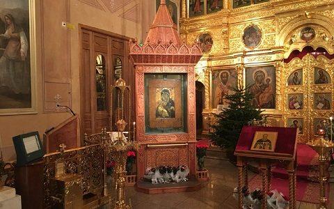 Служба в храме святителя Николая в Толмачах. 2 января 2018 г.