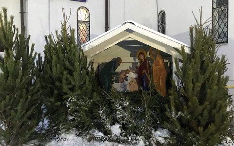 Рождественские вертепы в московских храмах. Январь 2018 г.