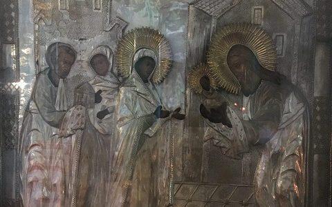 Икона Сретения Господня из алтаря храма Владимирской иконы Божией Матери в Виноградово