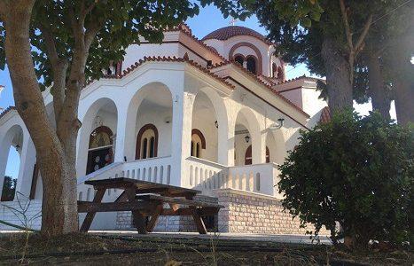 Храм в местечке Милеси (Аттика, Греция). Фото сентябрь 2018 г.